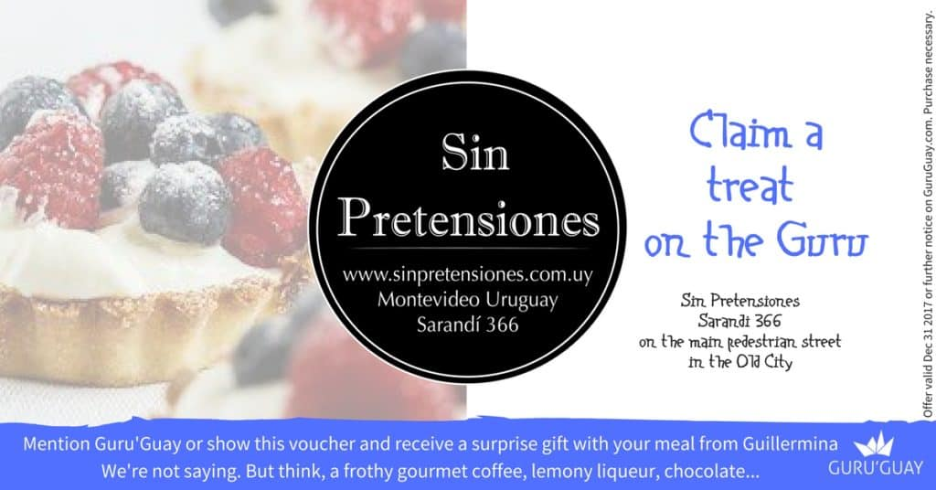 Guru'Guay coupons: Free treat at Sin Pretensiones