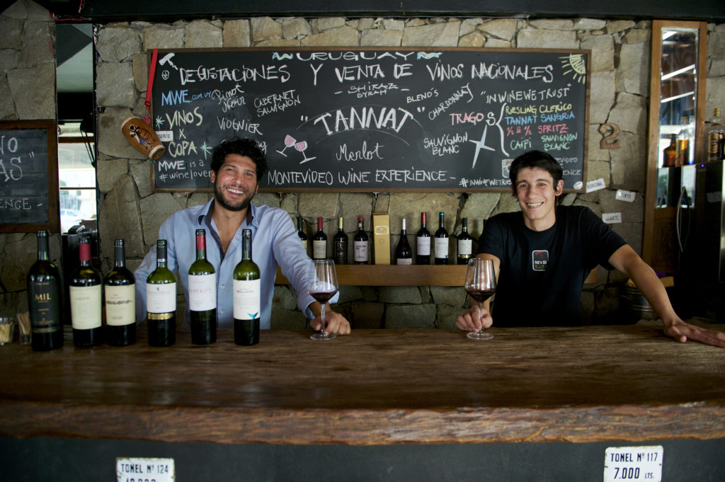 Nico and Liber at Montevideo Wine Experience - great Uruguay wine tasting. Photo: Doug Young